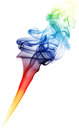 Abstract coloured smoke isolated on white background Royalty Free Stock Photos