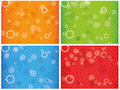 Abstract colourful combo background with circles Royalty Free Stock Images