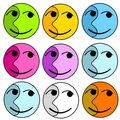 Abstract Colourful Happy Faces Royalty Free Stock Image