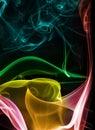 Abstract Colourful Smoke Royalty Free Stock Photo