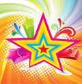 Abstract colrful background with star Stock Photo