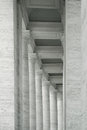 Abstract columns elegant detail of many in semicircular position in black and white Stock Photography