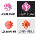 Abstract company glowing swirl or flower logo template that can be used for various industries like advertising media Stock Photo