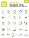 Abstract company logo vector collection Royalty Free Stock Photo
