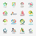 Abstract company logo vector collection Royalty Free Stock Photo