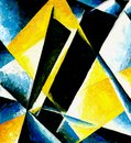 Abstract composition of color planes Royalty Free Stock Photo