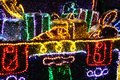 Abstract composition from many holiday colored lights Royalty Free Stock Photo