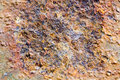 Abstract composition with metallic texture with rust Royalty Free Stock Photo