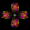 Abstract color composition of openwork elements  on a black back Royalty Free Stock Photo