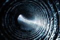 Abstract Concentric Circles inside Industrial Duct Stock Photography