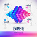 Abstract concept geometric Pyramid Royalty Free Stock Photo