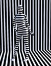 Surreal Zebra Woman, Stripes, Girl Royalty Free Stock Photo