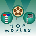 Abstract concept title top movies background for your business