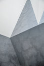 Abstract concret wall chaotic polygonal relief pattern