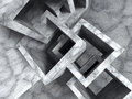 Abstract concrete architecture chaotic cubes construction Royalty Free Stock Photo
