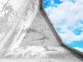 Abstract concrete architecture on cloud sky background Royalty Free Stock Photo