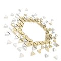 Abstract copyspace hexagon frame background Royalty Free Stock Photos