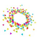Abstract copyspace hexagon frame background Stock Photos
