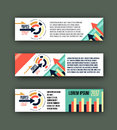 Abstract corporate business banner template, Colorful design header for , background website