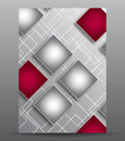 Abstract cover with squares for your business and design Stock Photos