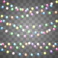 Abstract creative christmas garland light