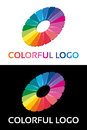 Abstract creative colorful logo circle work Stock Photo
