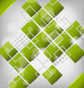Abstract creative green background with squares Stock Photography