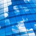 Abstract crop of modern office skyscraper Royalty Free Stock Photo