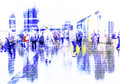 Abstract crowd of people networking on cyberspace