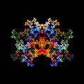 Abstract crystal fractal object isolated on black Royalty Free Stock Photography