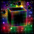 Abstract cube art  background. Royalty Free Stock Photo
