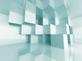 Abstract Cube Design Room Interior Architecture Background Royalty Free Stock Photo