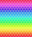Abstract cube pattern seamless rainbow structure grid background Stock Photos