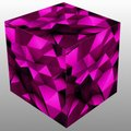 Abstract cube Puzzle - Pink colour combination Royalty Free Stock Photo