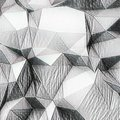 Abstract cube - white and black colour combination Royalty Free Stock Photo