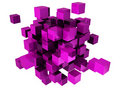Abstract cubes Royalty Free Stock Photo