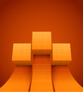 Abstract cubes moving up eps illustration Stock Photography