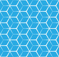 Abstract cubic blue background, seamless pattern Royalty Free Stock Photo