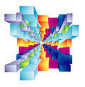Abstract Cubic deep well Royalty Free Stock Images