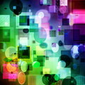 Abstract cubism art pattern with textures background Stock Image