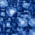 Abstract Cubist Fractal Blue Background Royalty Free Stock Photo