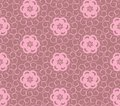 Abstract curl pink seamless texture Stock Photography