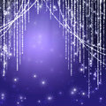 Abstract curtains of holiday garland Royalty Free Stock Images