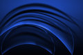 Abstract curve blue background Royalty Free Stock Photo