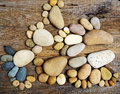 Abstract cute pebbles, footprint from boulder Royalty Free Stock Photo