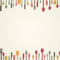 Abstract cutlery vector illustration of an background with Royalty Free Stock Photography