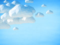 Abstract 3D clouds on blue sky background Royalty Free Stock Photo