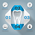 Abstract 3D digital illustration Infographic. Tooth icon.