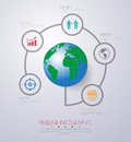 Abstract d digital illustration infographic with world map can be used for workflow layout diagram number options web design Stock Photos