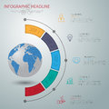 Abstract d digital illustration infographic with world map can be used for workflow layout diagram number options web design Stock Image